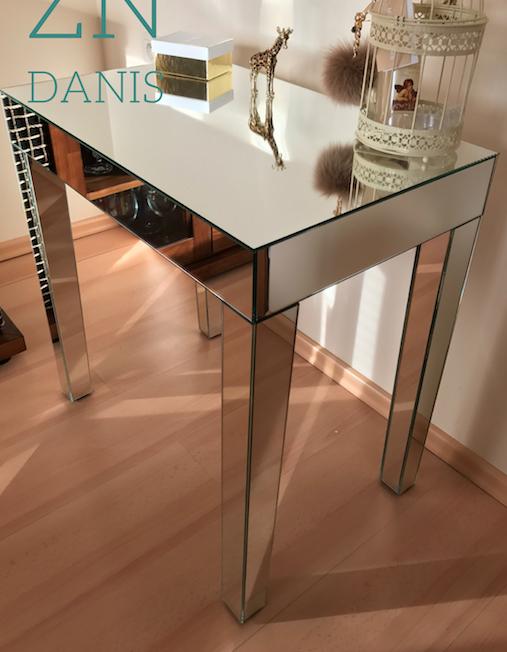 GREY, zrkadlový konzolový stolík