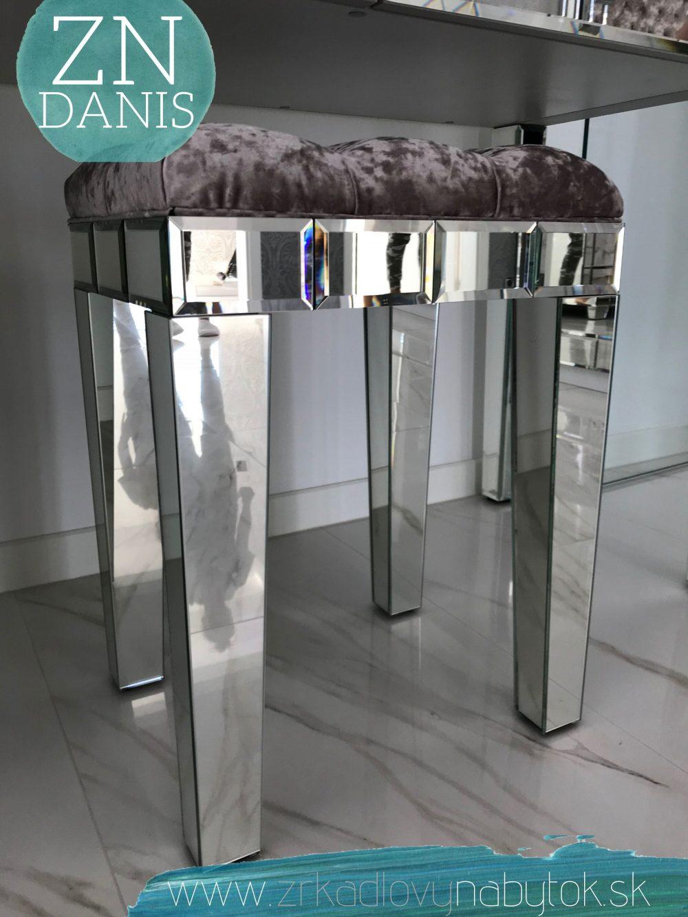 zrkadlová taburetka