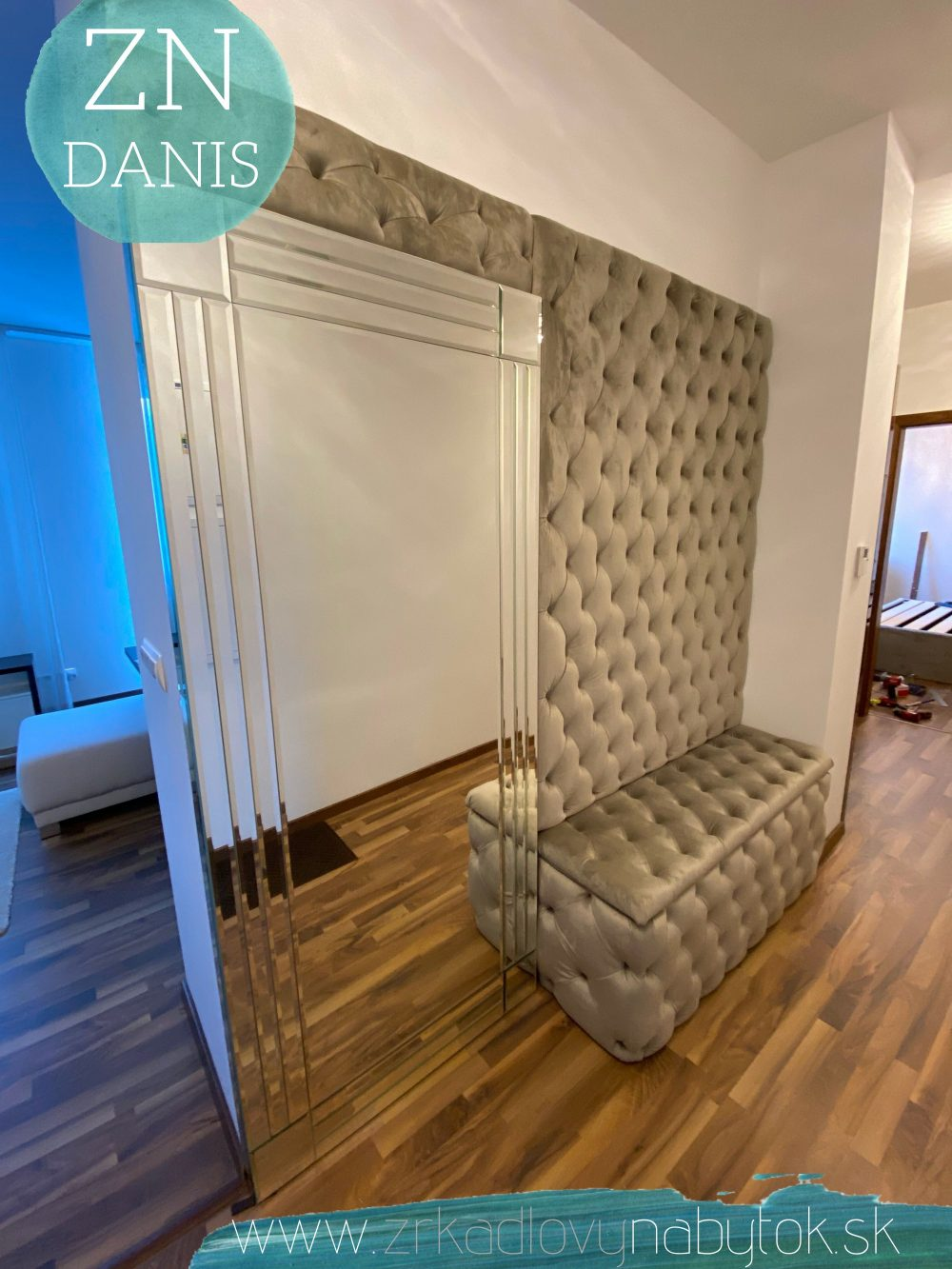 luxusné zrkadlo art deco