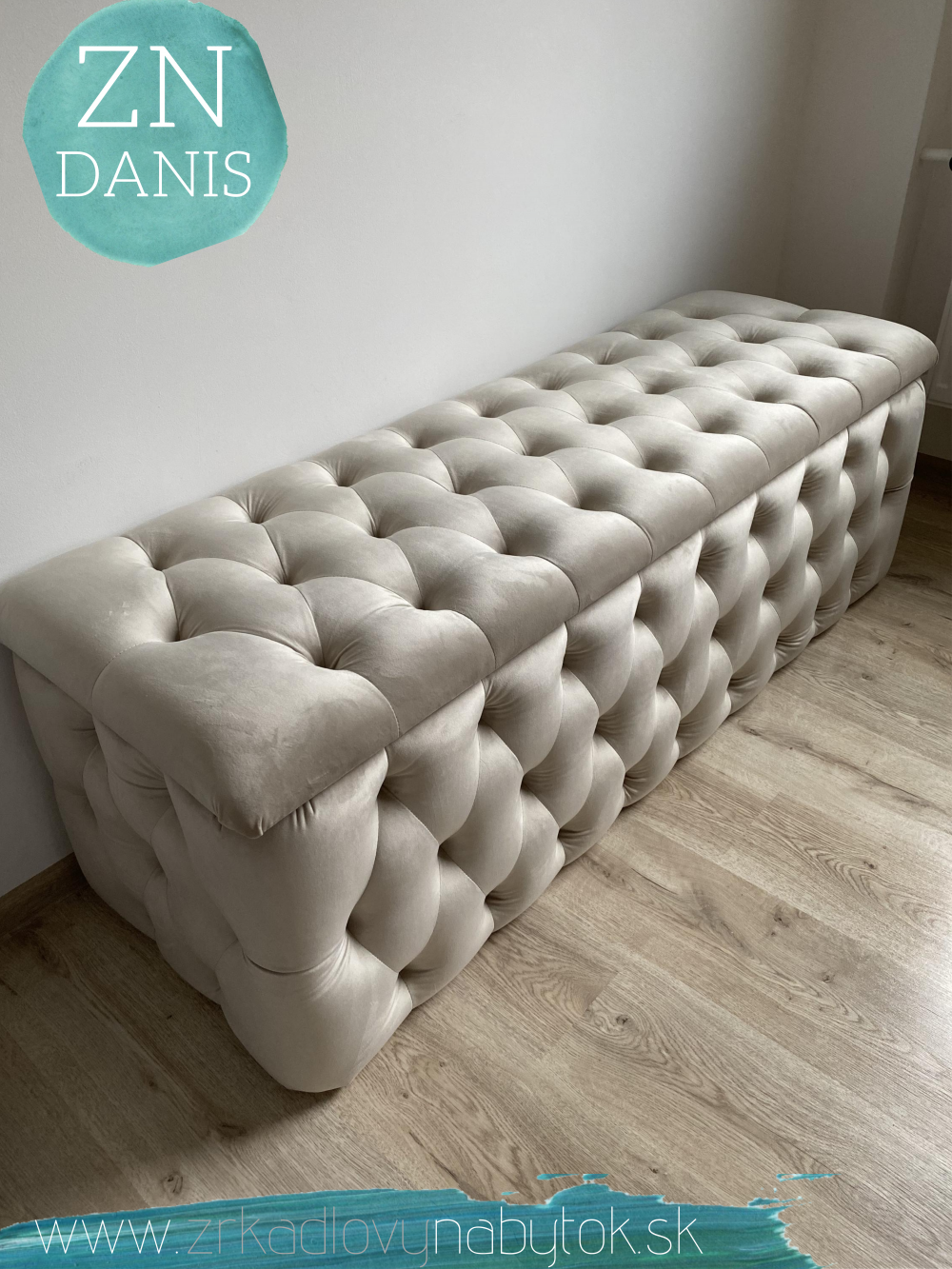 luxusná čalúnená lavica